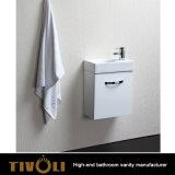Белый шкаф тщеты ванной комнаты с каменной верхней частью Tivo-0026vh раковины