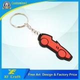 어떤 로고 디자인 (XF-KC-P10)를 가진 직업적인 주문 연약한 PVC 고무 차 모양 열쇠 고리 반지
