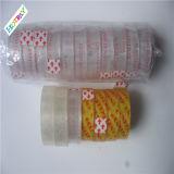 Cinta adhesiva de acrílico clara transparente del buen del precio descuento de la promoción para el lacre del cartón