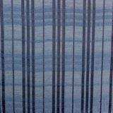Pano fino do poliéster da listra azul para o vestuário
