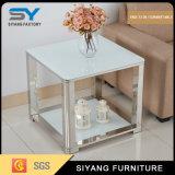 金属の家具の居間ガラス側面表のコーヒーテーブル