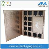 O empacotamento cosmético da caixa do ouro de Rosa brandnew anunciou a caixa da placa da sombra em Dongguan