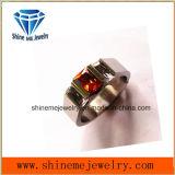 ワイヤー切口の方法赤い石造りのチタニウムのタングステンのリング