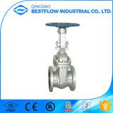 Válvula de porta flangeada do aço inoxidável para o gás de petróleo e a água Pn16 Dn100
