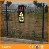 Frontière de sécurité soudée de Rod de fil en métal de haute sécurité pour l'aéroport