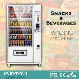 9 columnas, 54selections bebidas, máquina expendedora combinada del bocado funcionada por Mdb/Dex
