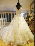 2017 Kleding 6832 van het Huwelijk van de Meermin van het Kant Netto Geparelde Bruids