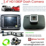 """2.4 """" HD TFTの表示が付いている最も安いHD1080p車のデジタルレコーダーのカメラ; HDMI; AV; 夜間視界、4Gレンズ、120度の視野角、車DVR-2406"""