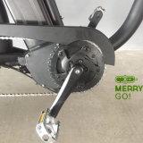 Leistungs-elektrisches fettes Gummireifen-Fahrrad mit MITTLEREM Antriebsmotor