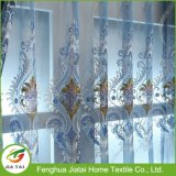 Cortinas azuis para janela de cortina de poliéster de sala de estar