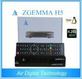 공기 디지털 기술 Zgemma H5.2s Hevc/H. 265 인공 위성 수신 장치 DVB-S2+S2 쌍둥이 조율사를 가진 이중 코어 리눅스 OS E2