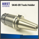 Herramienta que muele del sostenedor de herramienta de la tirada de cerco de los accesorios Sk40-Er del CNC