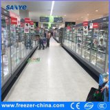 R404A 상업적인 그네 슈퍼마켓에서 사용되는 냉동 식품을%s 유리제 문 냉장고
