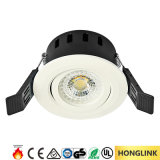 Diodo emissor de luz Rated Downlight do incêndio ajustável do Ce 5W CCT Dimmable BS476