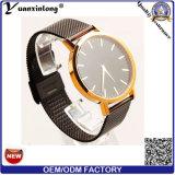Relógios feitos sob encomenda do logotipo de quartzo dos homens de venda quentes da senhora relógio de pulso do OEM do projeto simples de relógio de senhoras da cinta de couro da elegância Yxl-427