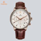 Orologio di lusso 72747 del quarzo di modo della fascia del cuoio genuino di marca degli uomini originali della vigilanza