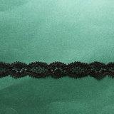 Merletto netto nero alla moda personalizzato della guarnizione del reticolo dall'iarda