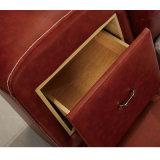 韓国様式の居間の家具Fb8141のための現代本革のソファーベッド