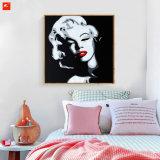 Pittura a olio della tela di canapa del ritratto del pop star sulle stampe