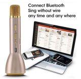 Mini microfone do karaoke para o altofalante ativo portátil suportado de Bluetooth