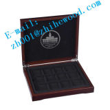 Madera colección de moneda conmemorativa Box