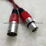 Varón de 3 Pin al cable femenino del rojo del altavoz/del micrófono/del equipo sano de XLR
