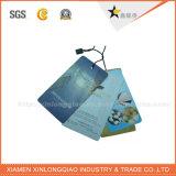 Etiqueta de papel por encargo de la caída de la alta calidad con la cuerda