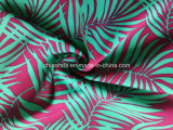 Tela de bambú púrpura de la impresión de la hoja para el traje de baño (HD1401096)