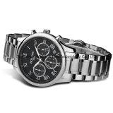 Reloj del acero inoxidable de los hombres impermeables de múltiples funciones del cuarzo