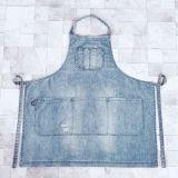 새로운 디자이너 면에 의하여 세척되는 데님 작업복 앞치마 (RS-170304)