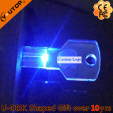 Привод вспышки USB ключа СИД светлый кристаллический для Shining подарков (YT-3213-09)
