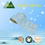 Color Papel cristal Papel Base etiqueta auto adhesiva térmica y la etiqueta engomada