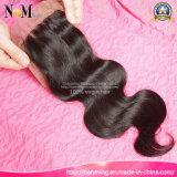 Facebeautyの毛の部分3partの方法自由な部品の絹の基礎閉鎖のブラジルの毛のレースの閉鎖