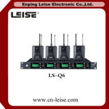 LS-Q6 microphone de radio de fréquence ultra-haute d'audio numérique de glissières de la qualité quatre