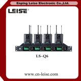 Ls Q6 고품질 4 채널 통신로 디지털 오디오 UHF 무선 마이크
