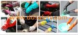 Luvas industriais químicas DHL445 do nitrilo verde padrão de Europa