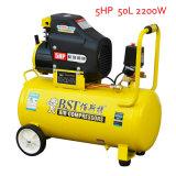 2200W 5HP 50L industrieller beweglicher Drehkolben-Luftverdichter