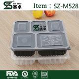 고품질 큰 수용량 5 격실 덮개를 가진 처분할 수 있는 플라스틱 음식 콘테이너