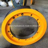 車輪、エレベーターの車輪、ディフレクターの車輪、車輪を転換するガイドの車輪を持ち上げなさい
