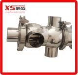 Válvula de prova de mistura de aço inoxidável Dn40 de aço inoxidável com atuador de aço inoxidável