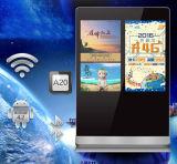 55 - Double joueur de la publicité d'écrans de pouce, Signage de Digitals d'affichage numérique de panneau lcd