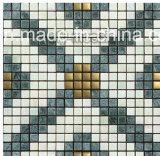 Het Metaal van het Bouwmateriaal mengde Natuurlijk Marmer/het Ceramische/Mozaïek van het Glas (FYSM070)