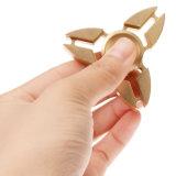Het Goud van het Stuk speelgoed van de Vorm van de Krab van de Legering van het Aluminium van de tri-spinner friemelt de Spinner van de Vinger