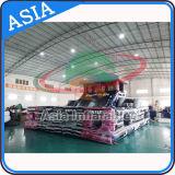 Curso de obstáculo inflable gigante para los cabritos, obstáculo flotante inflable