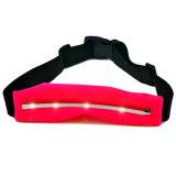 スポーツのLEDライトが付いている伸縮性があるウエストベルト袋