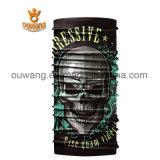黒い頭骨の表面管マスクの首のゲートルの塵の盾の継ぎ目が無いバンダナ