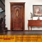 Tür-Entwurfs-festes Holz-Einstiegstür (XS2-020) schnitzen