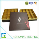 Коробка подарка шоколада картона офсетной печати пустая