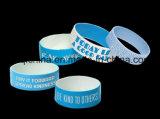 Bracelet de silicones de logo personnalisé par cadeau de Promontional de qualité