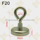 D20mm de Magneet van de Pot van de Schroef van het Oog, de Haak van Uitlopers